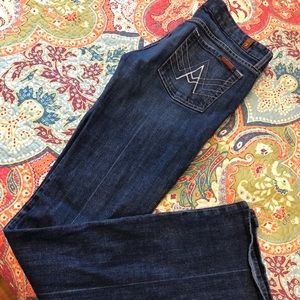 7 for all mankind flare jeans!  Like new!